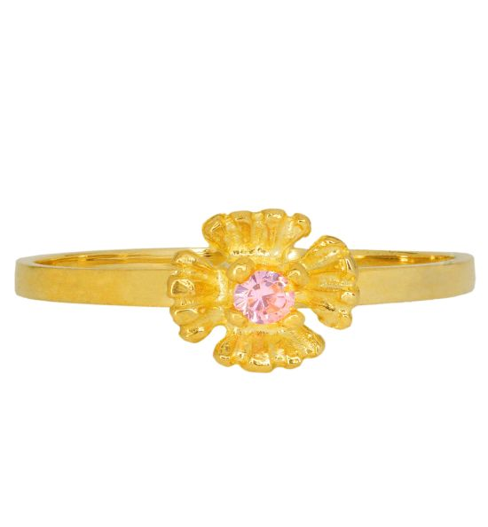 Color Stone Ring - Flower