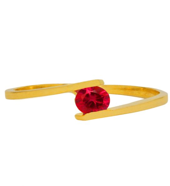 Color Stone Ring - Ruby