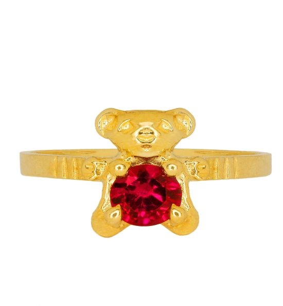 Color Stone Ring - Bear Ruby